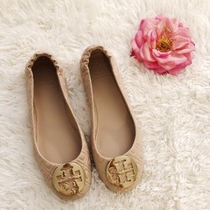 TORY BURCH Quilted Mini Flat